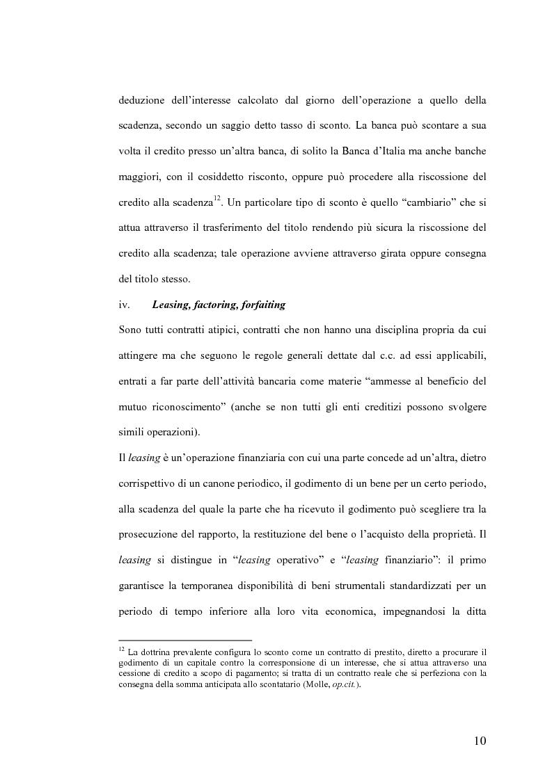 Anteprima della tesi: Il Jus Variandi nei contratti bancari di finanziamento, Pagina 13