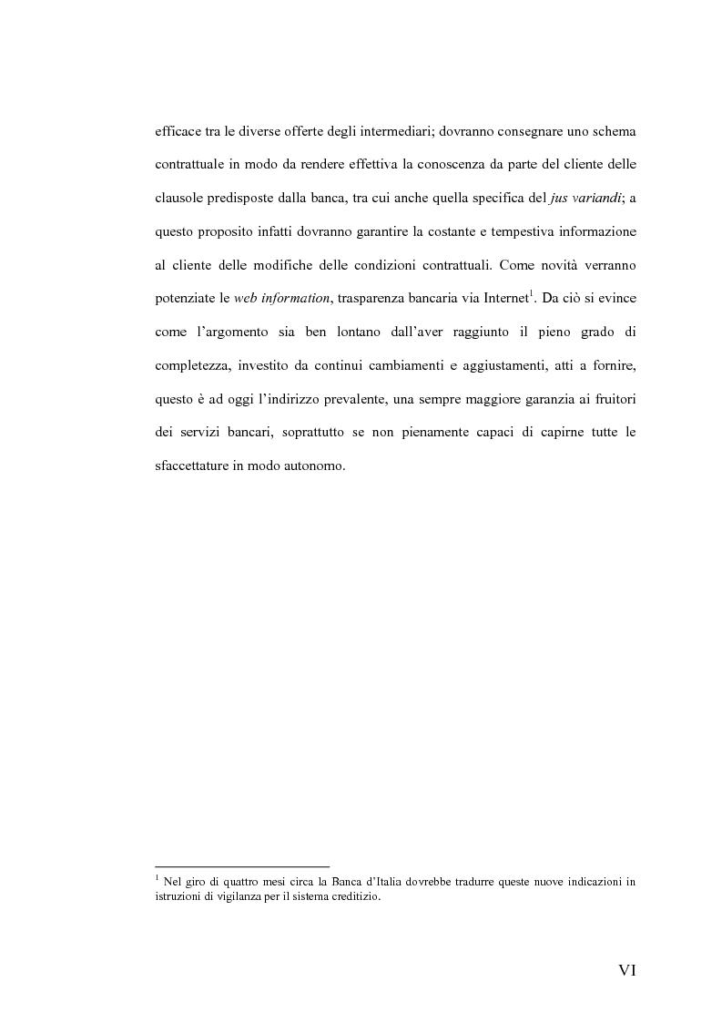 Anteprima della tesi: Il Jus Variandi nei contratti bancari di finanziamento, Pagina 3
