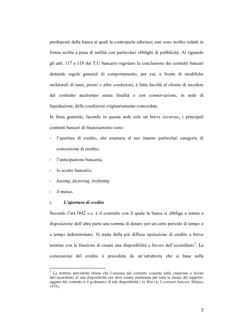 Anteprima della tesi: Il Jus Variandi nei contratti bancari di finanziamento, Pagina 6