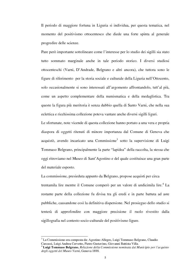 Anteprima della tesi: Sigillografia e sfragistica ligure medievale: indagini e proposte, Pagina 2