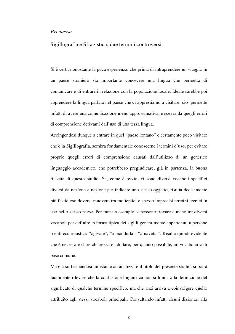Anteprima della tesi: Sigillografia e sfragistica ligure medievale: indagini e proposte, Pagina 5