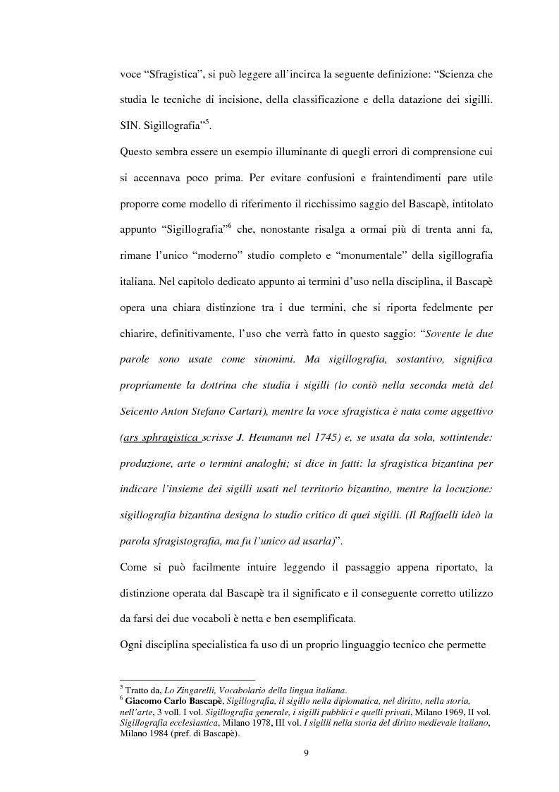 Anteprima della tesi: Sigillografia e sfragistica ligure medievale: indagini e proposte, Pagina 6