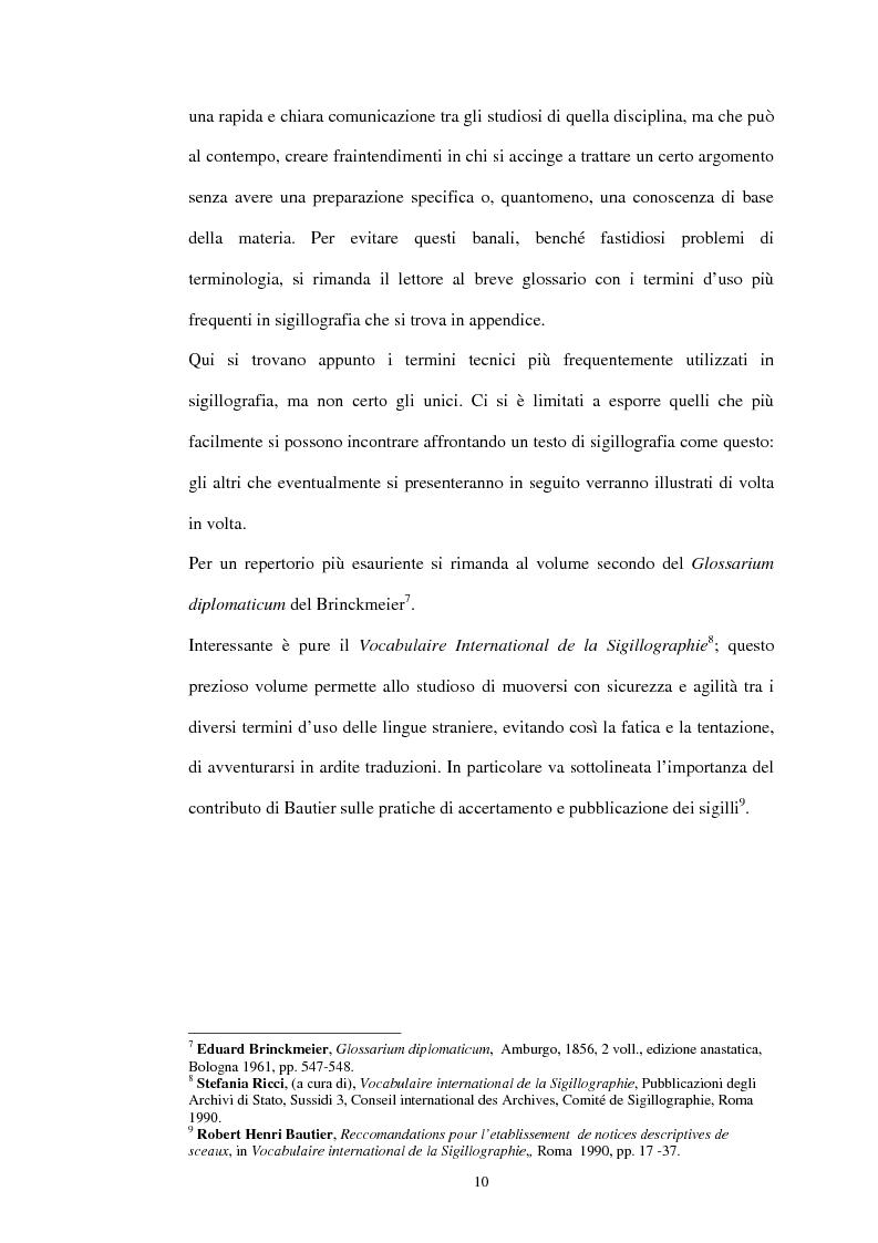 Anteprima della tesi: Sigillografia e sfragistica ligure medievale: indagini e proposte, Pagina 7