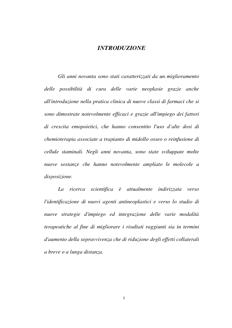 Anteprima della tesi: Rischi da esposizione professionale a chemioterapici antiblastici: tutela della salute dell'operatore sanitario, Pagina 1