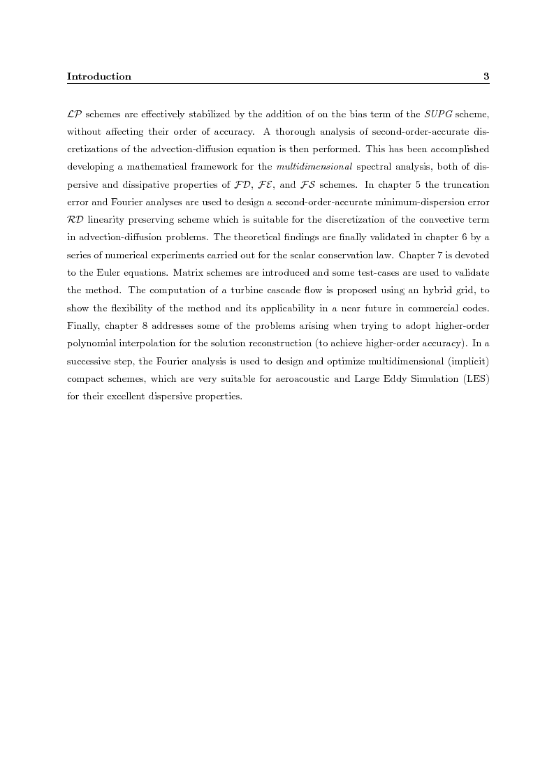 Anteprima della tesi: Residual distribution schemes for advection and advection-diffusion problems on quadrilateral and hybrid meshes, Pagina 4