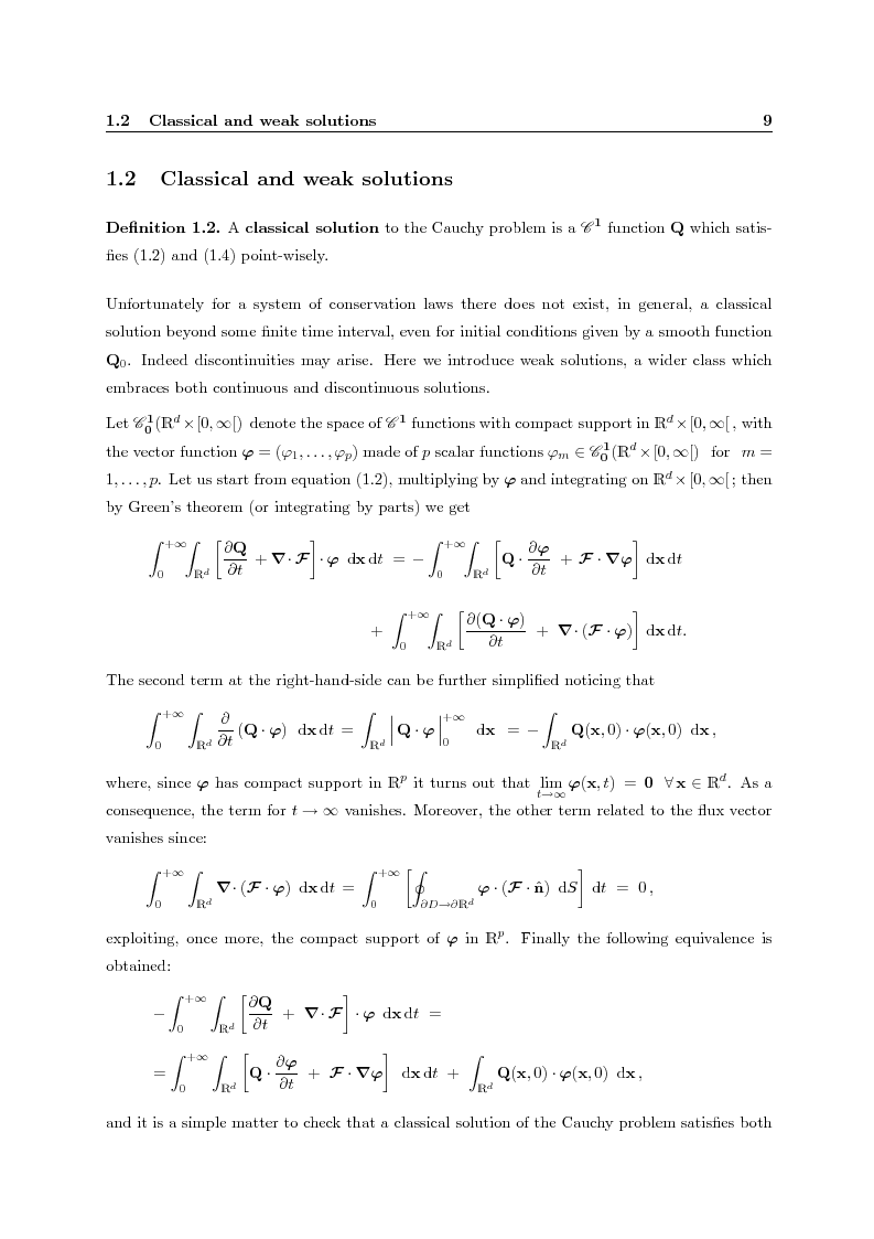 Anteprima della tesi: Residual distribution schemes for advection and advection-diffusion problems on quadrilateral and hybrid meshes, Pagina 9
