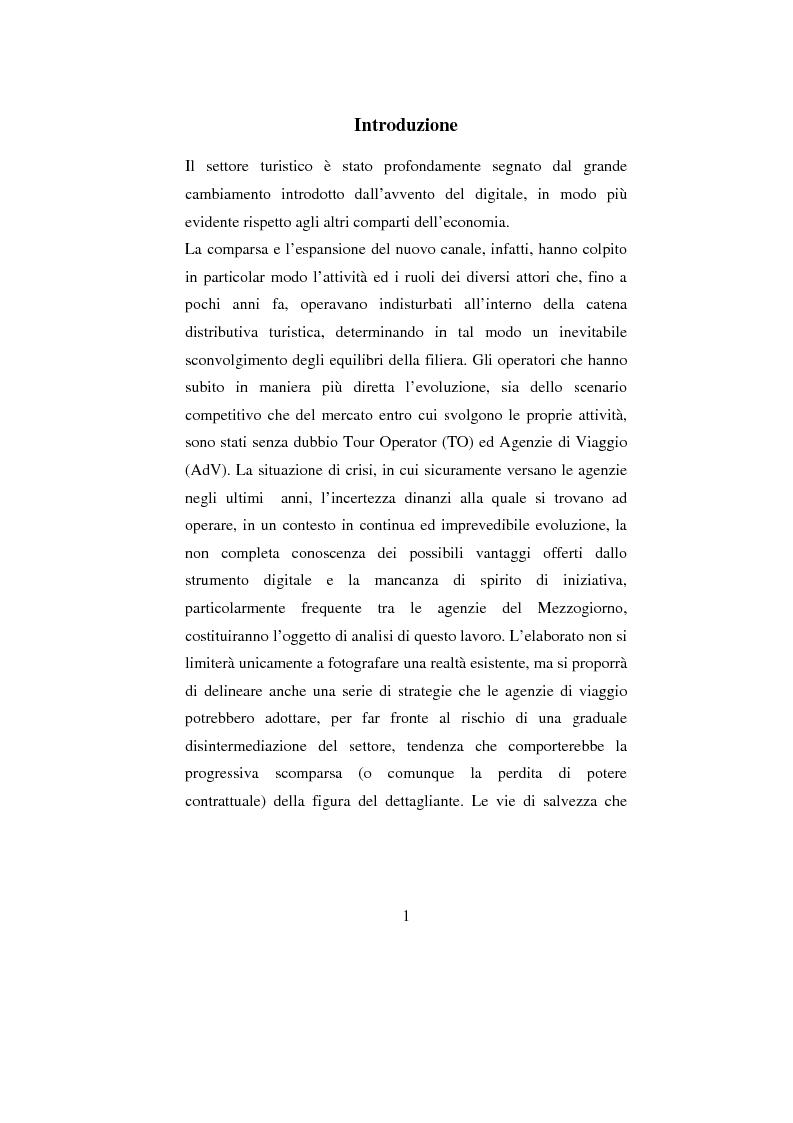 Anteprima della tesi: ADV e multicanalità. Un'indagine esplorativa nella città di Napoli, Pagina 1