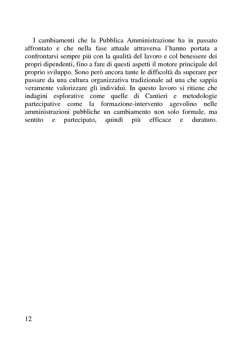 Anteprima della tesi: Benessere organizzativo e progettazione ergonomica: il caso del Comune di Anzio, Pagina 12