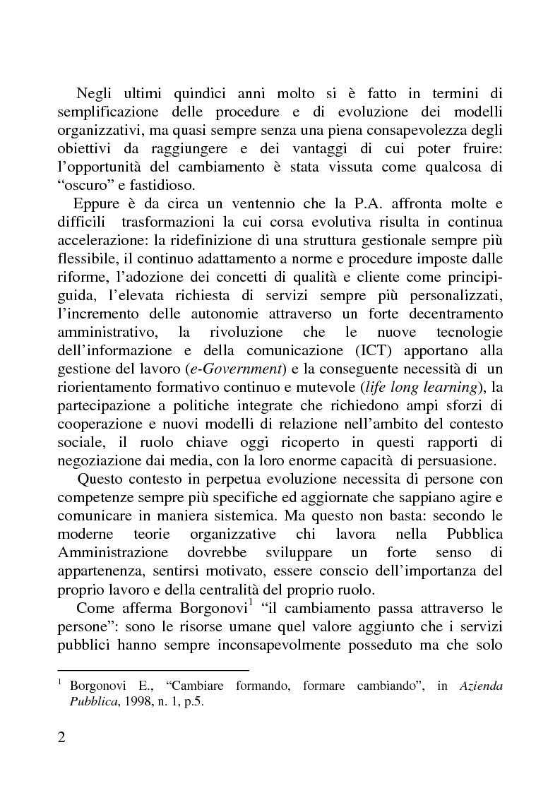 Anteprima della tesi: Benessere organizzativo e progettazione ergonomica: il caso del Comune di Anzio, Pagina 2