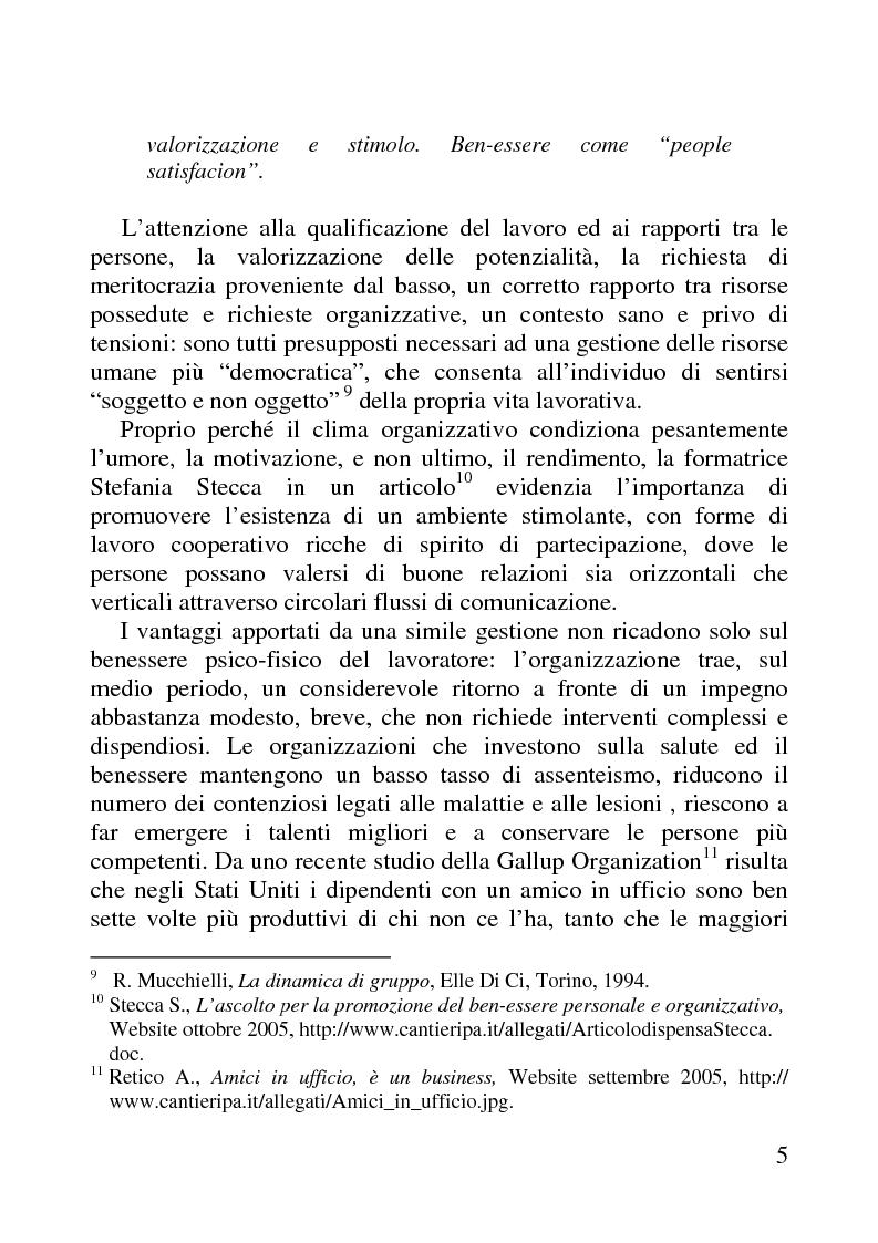 Anteprima della tesi: Benessere organizzativo e progettazione ergonomica: il caso del Comune di Anzio, Pagina 5