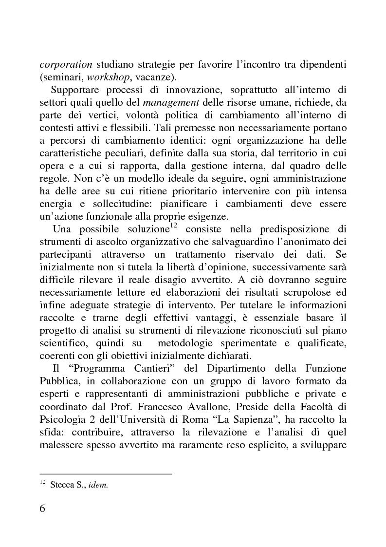 Anteprima della tesi: Benessere organizzativo e progettazione ergonomica: il caso del Comune di Anzio, Pagina 6
