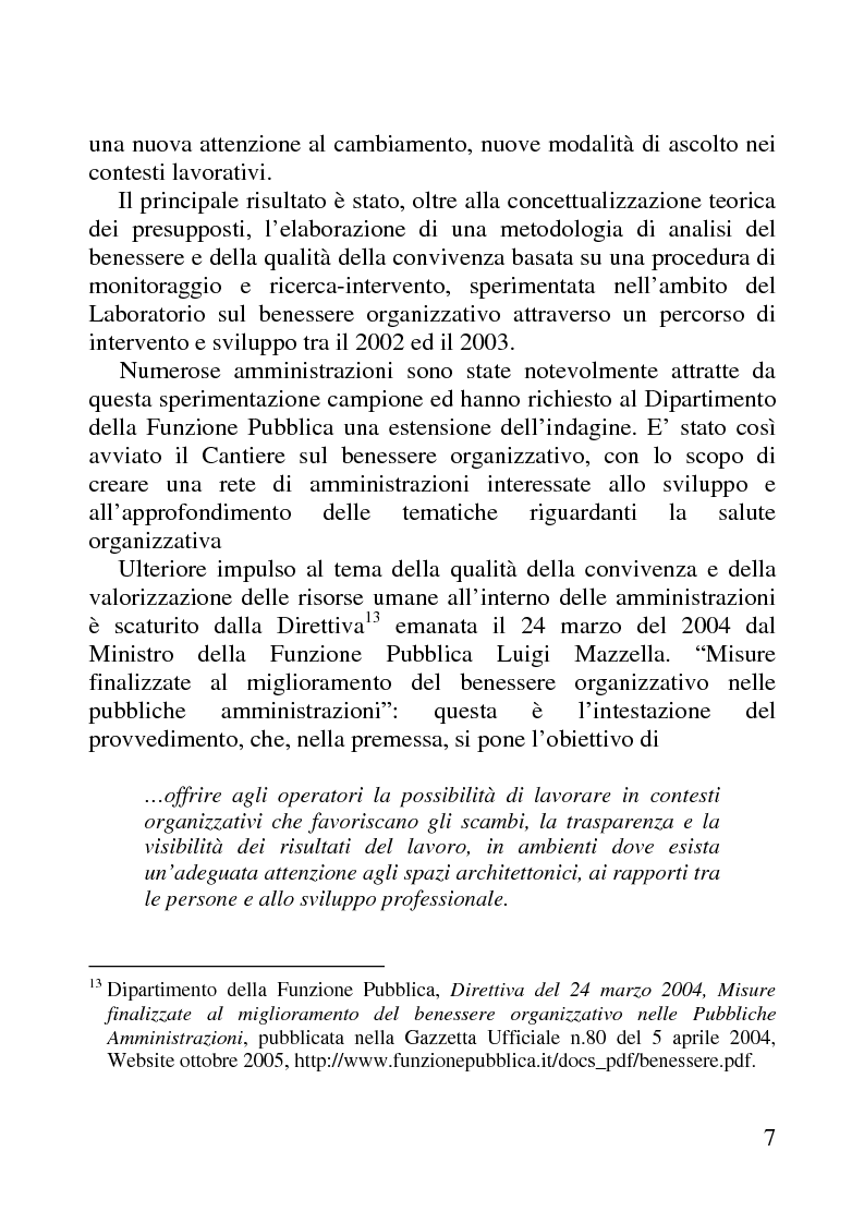 Anteprima della tesi: Benessere organizzativo e progettazione ergonomica: il caso del Comune di Anzio, Pagina 7