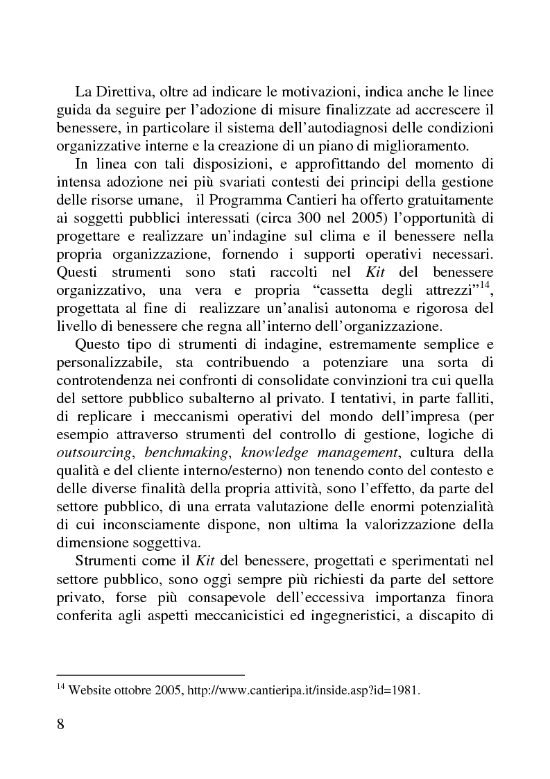 Anteprima della tesi: Benessere organizzativo e progettazione ergonomica: il caso del Comune di Anzio, Pagina 8