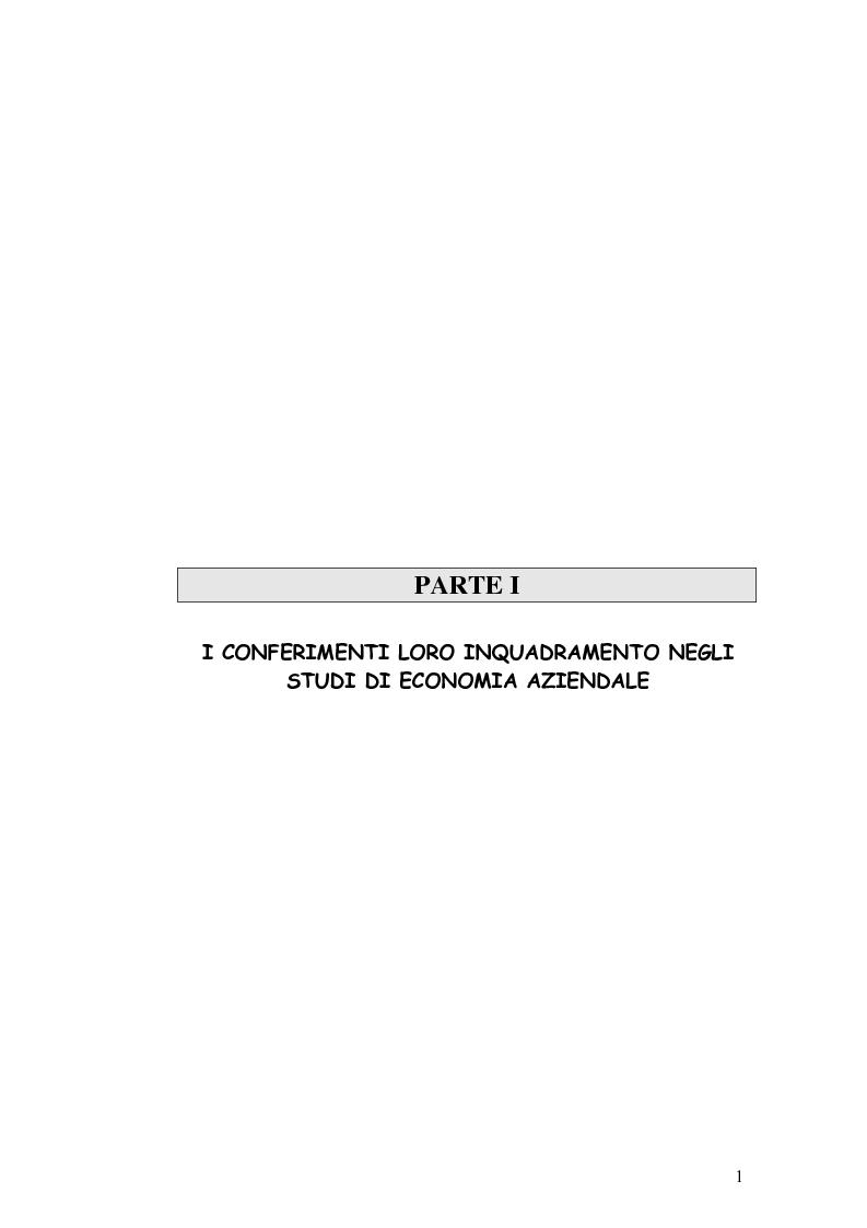 Anteprima della tesi: I conferimenti degli enti locali in attuazione della riforma sui servizi pubblici. La riorganizzazione dei comuni della provincia di Forlì-Cesena, Pagina 5