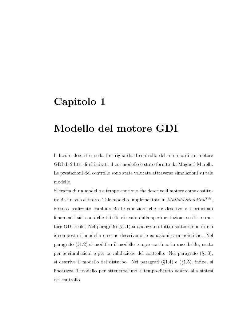 Anteprima della tesi: Minimizzazione dei consumi in motori-benzina ad iniezione diretta: un approccio basato sul controllo predittivo, Pagina 6