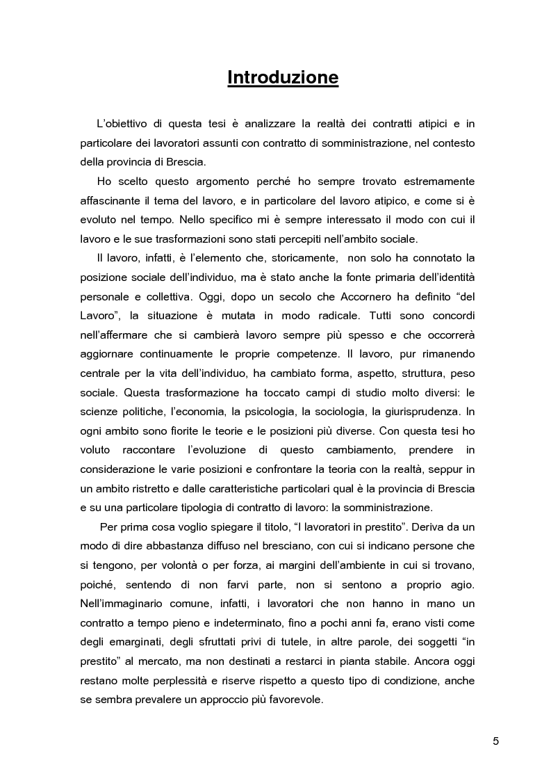 Anteprima della tesi: I lavoratori in prestito: uno studio sui nuovi contratti di lavoro, Pagina 1