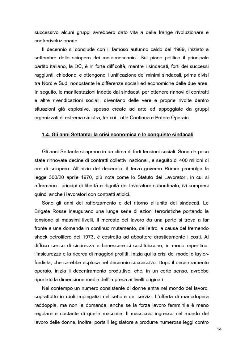 Anteprima della tesi: I lavoratori in prestito: uno studio sui nuovi contratti di lavoro, Pagina 10