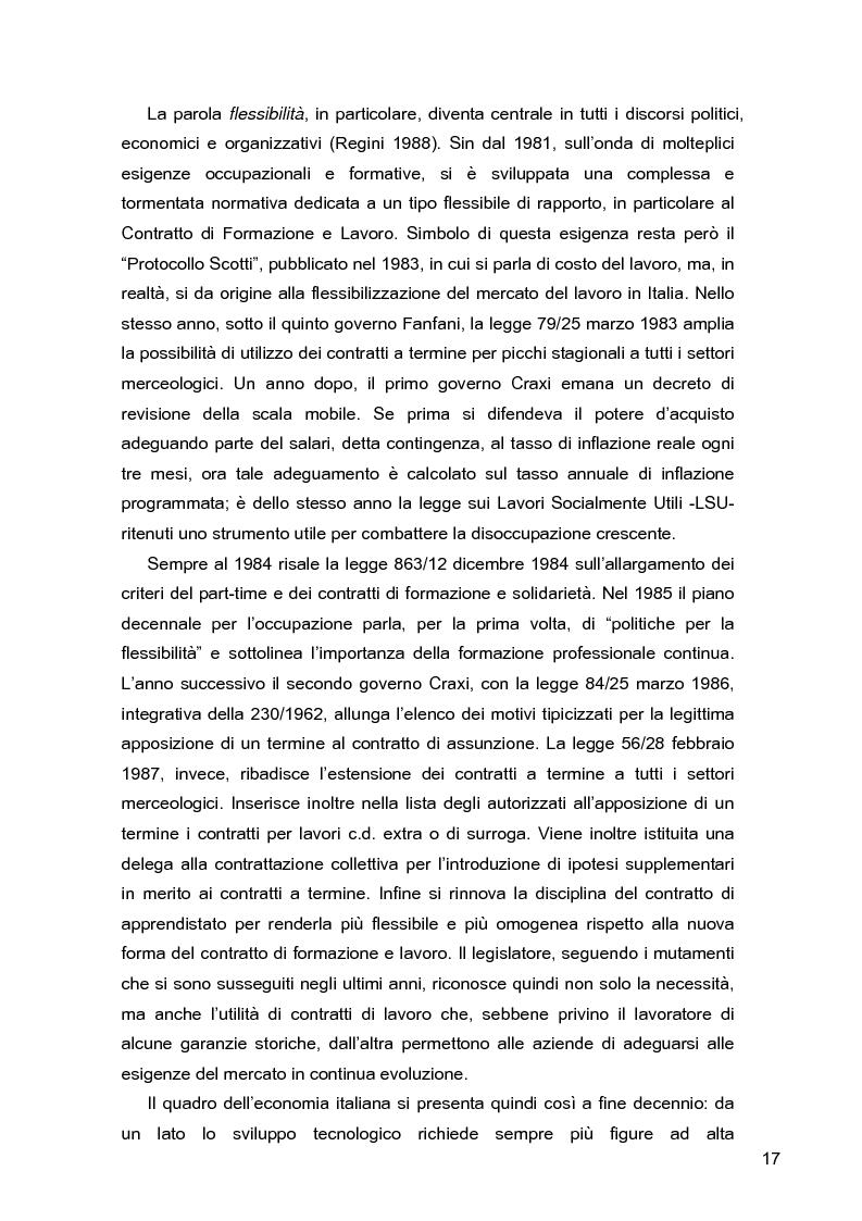 Anteprima della tesi: I lavoratori in prestito: uno studio sui nuovi contratti di lavoro, Pagina 13