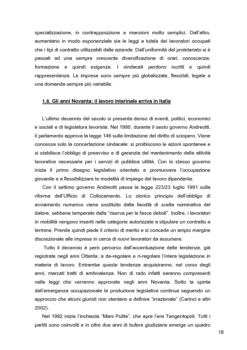 Anteprima della tesi: I lavoratori in prestito: uno studio sui nuovi contratti di lavoro, Pagina 14
