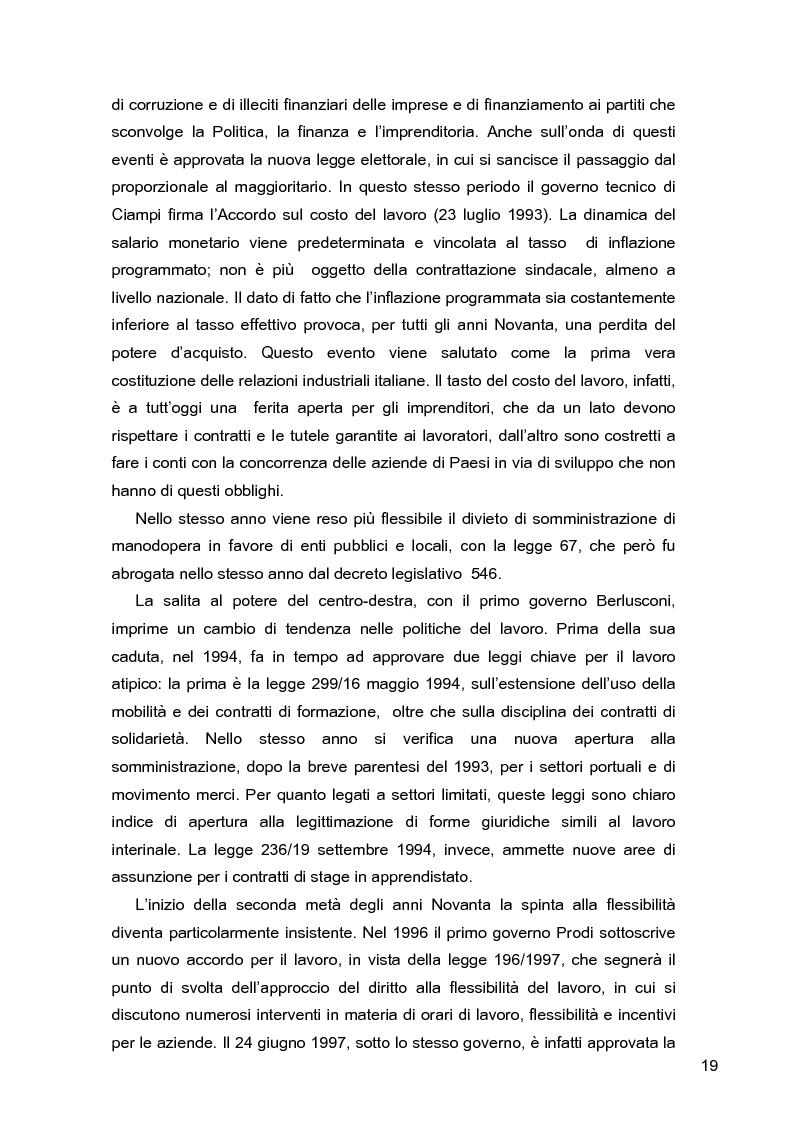 Anteprima della tesi: I lavoratori in prestito: uno studio sui nuovi contratti di lavoro, Pagina 15