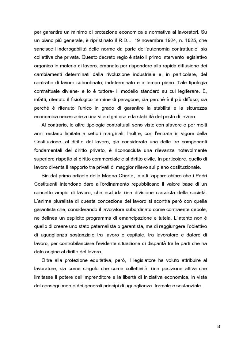 Anteprima della tesi: I lavoratori in prestito: uno studio sui nuovi contratti di lavoro, Pagina 4
