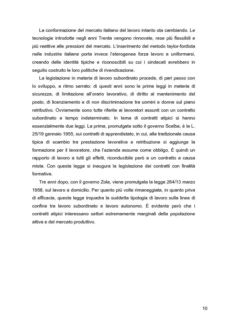 Anteprima della tesi: I lavoratori in prestito: uno studio sui nuovi contratti di lavoro, Pagina 6