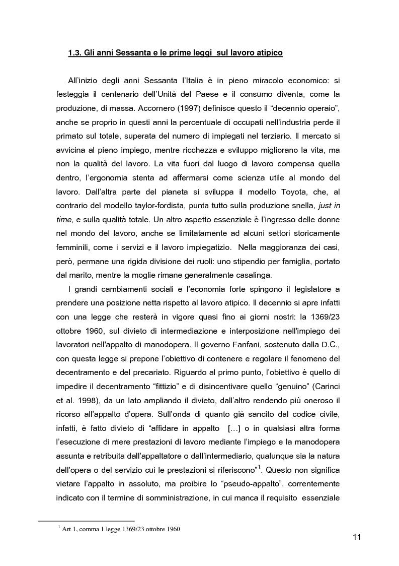 Anteprima della tesi: I lavoratori in prestito: uno studio sui nuovi contratti di lavoro, Pagina 7