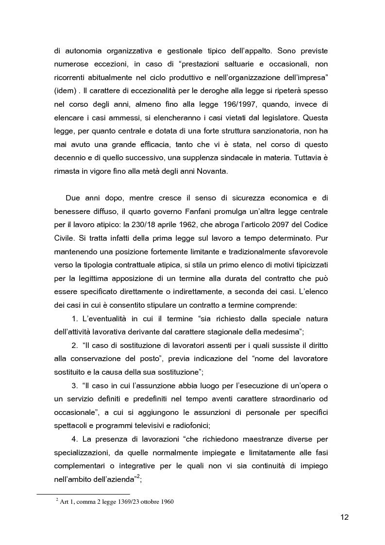 Anteprima della tesi: I lavoratori in prestito: uno studio sui nuovi contratti di lavoro, Pagina 8