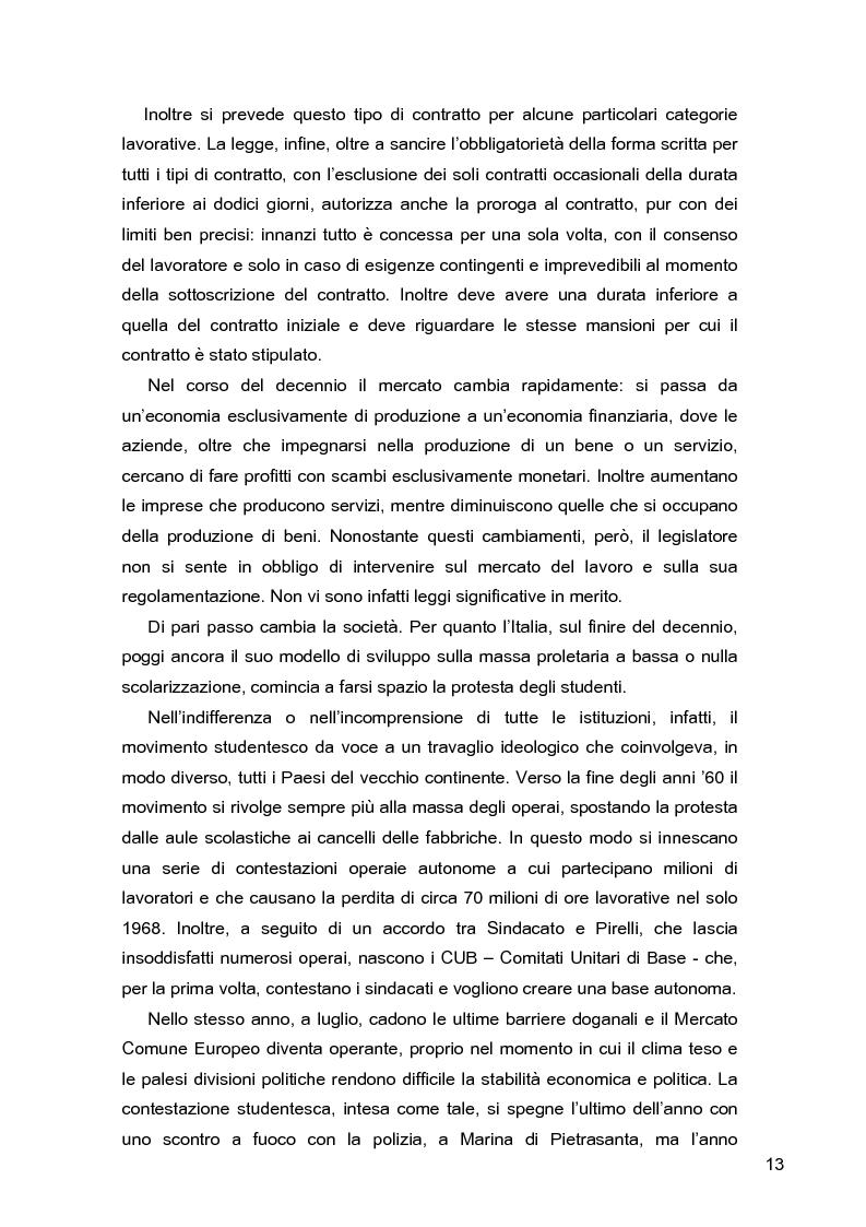 Anteprima della tesi: I lavoratori in prestito: uno studio sui nuovi contratti di lavoro, Pagina 9