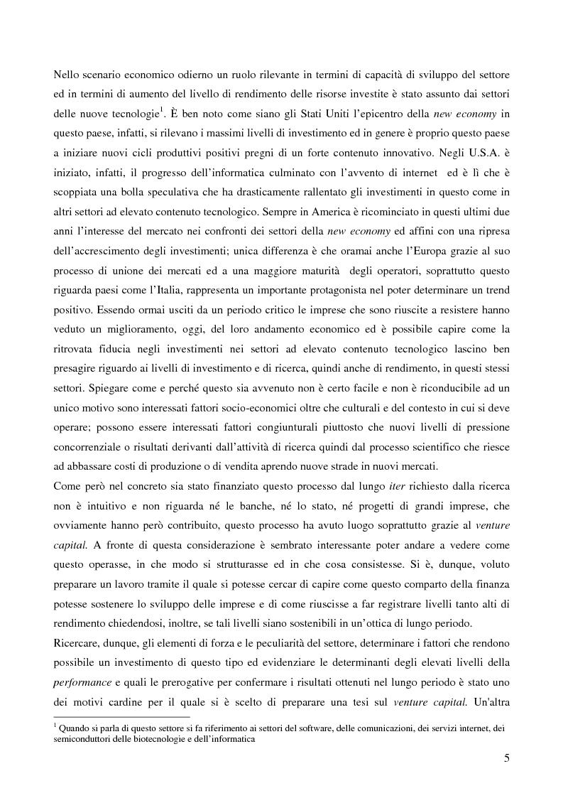 Anteprima della tesi: I fondi di fondi di venture capital e la loro attività di sostegno alle imprese, Pagina 2