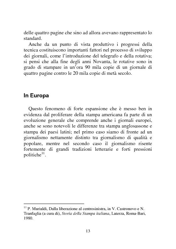 Anteprima della tesi: Notizia Promozionale, la notizia fra obiettivo pubblico e pubblico obiettivo, Pagina 13