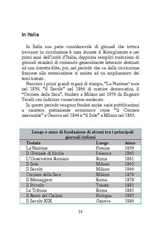 Anteprima della tesi: Notizia Promozionale, la notizia fra obiettivo pubblico e pubblico obiettivo, Pagina 14