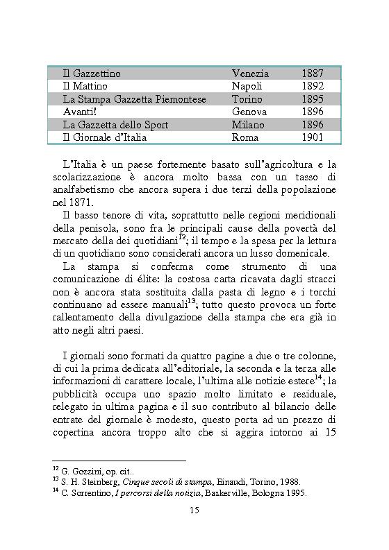 Anteprima della tesi: Notizia Promozionale, la notizia fra obiettivo pubblico e pubblico obiettivo, Pagina 15