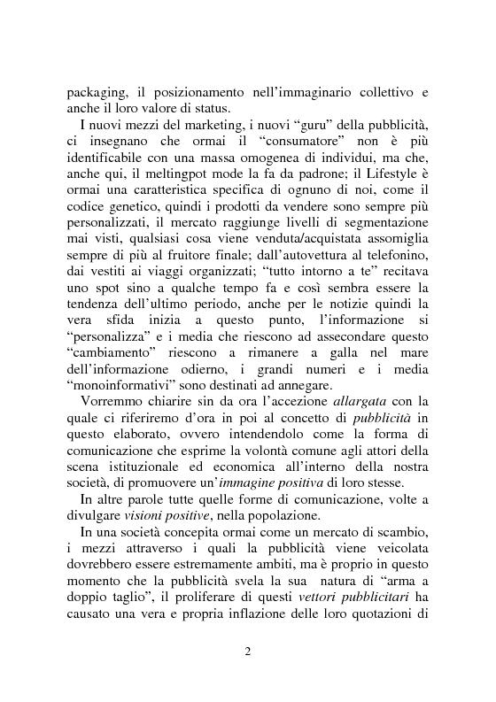 Anteprima della tesi: Notizia Promozionale, la notizia fra obiettivo pubblico e pubblico obiettivo, Pagina 2