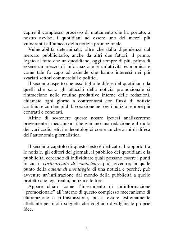 Anteprima della tesi: Notizia Promozionale, la notizia fra obiettivo pubblico e pubblico obiettivo, Pagina 4