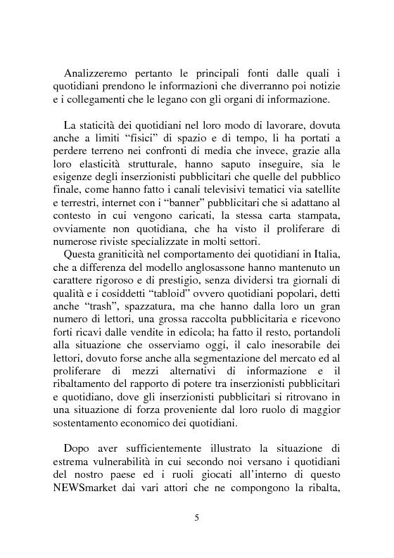 Anteprima della tesi: Notizia Promozionale, la notizia fra obiettivo pubblico e pubblico obiettivo, Pagina 5