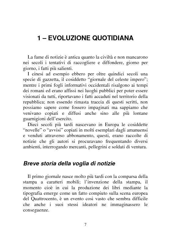 Anteprima della tesi: Notizia Promozionale, la notizia fra obiettivo pubblico e pubblico obiettivo, Pagina 7