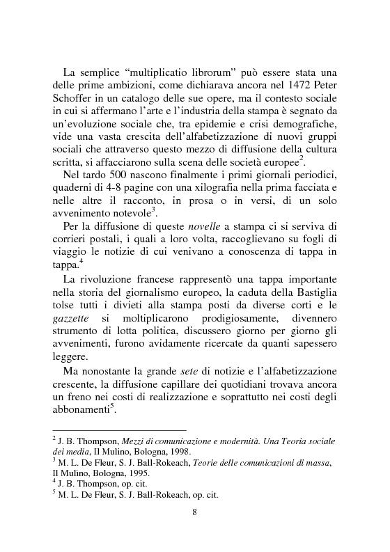 Anteprima della tesi: Notizia Promozionale, la notizia fra obiettivo pubblico e pubblico obiettivo, Pagina 8
