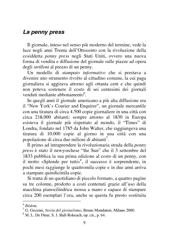 Anteprima della tesi: Notizia Promozionale, la notizia fra obiettivo pubblico e pubblico obiettivo, Pagina 9