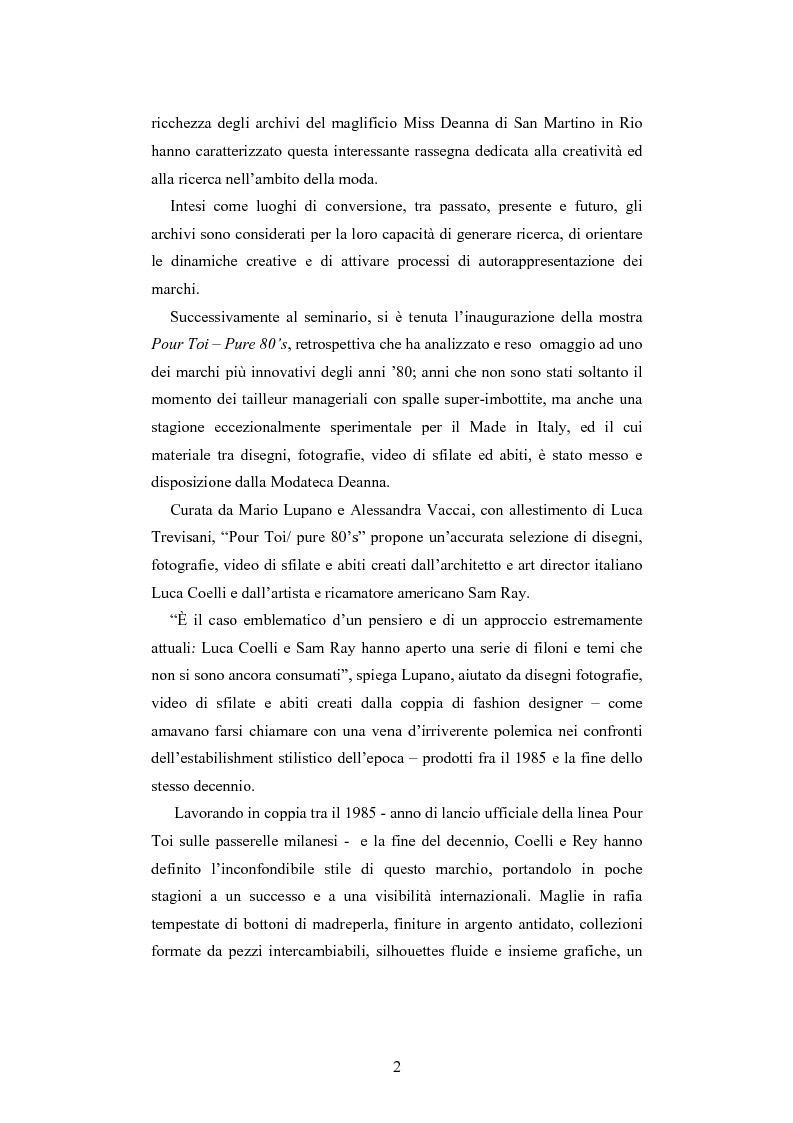 Anteprima della tesi: Maglia e sistema moda. L'esperienza di Miss Deanna Ferretti Veroni, Pagina 2