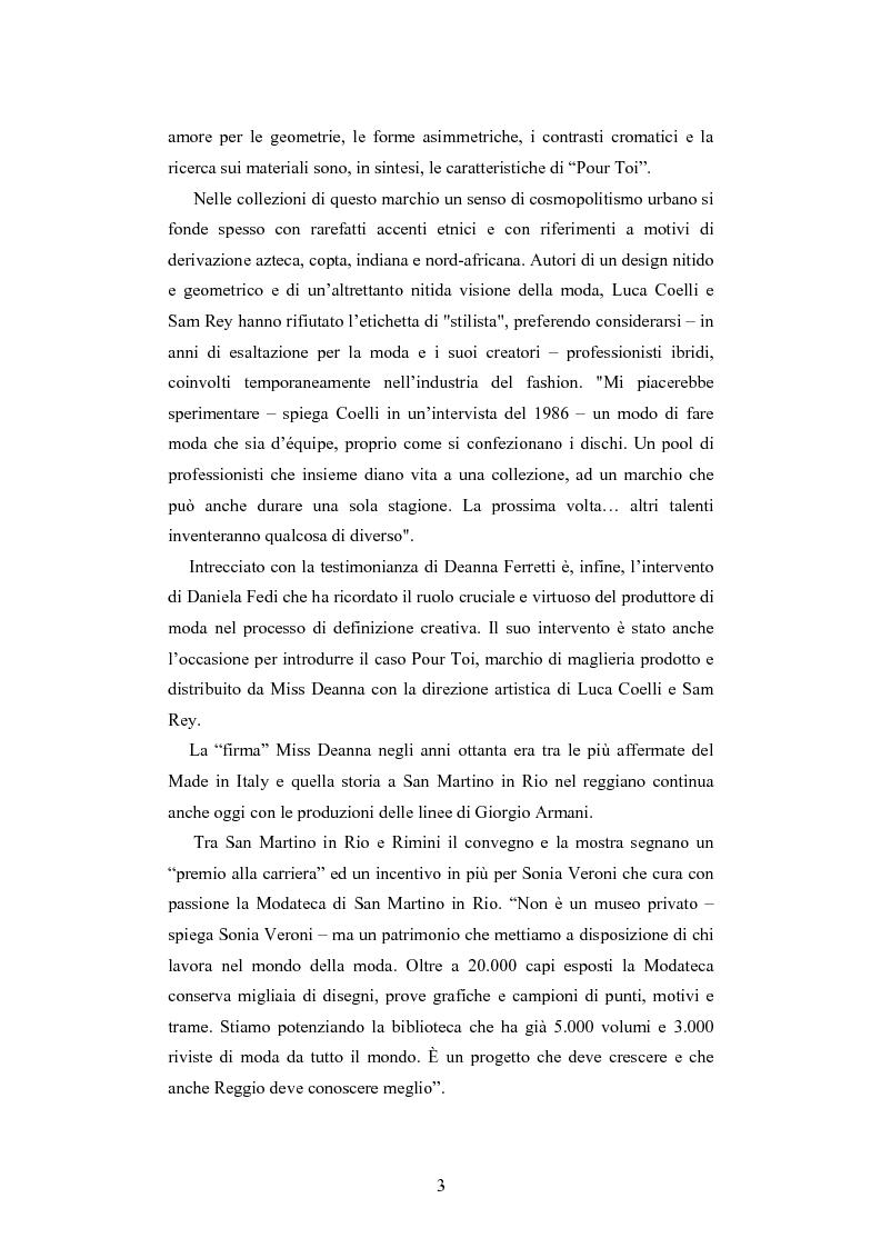 Anteprima della tesi: Maglia e sistema moda. L'esperienza di Miss Deanna Ferretti Veroni, Pagina 3