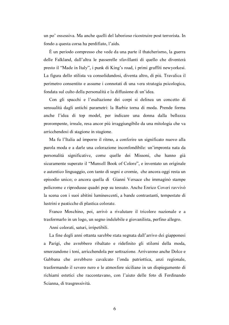 Anteprima della tesi: Maglia e sistema moda. L'esperienza di Miss Deanna Ferretti Veroni, Pagina 6
