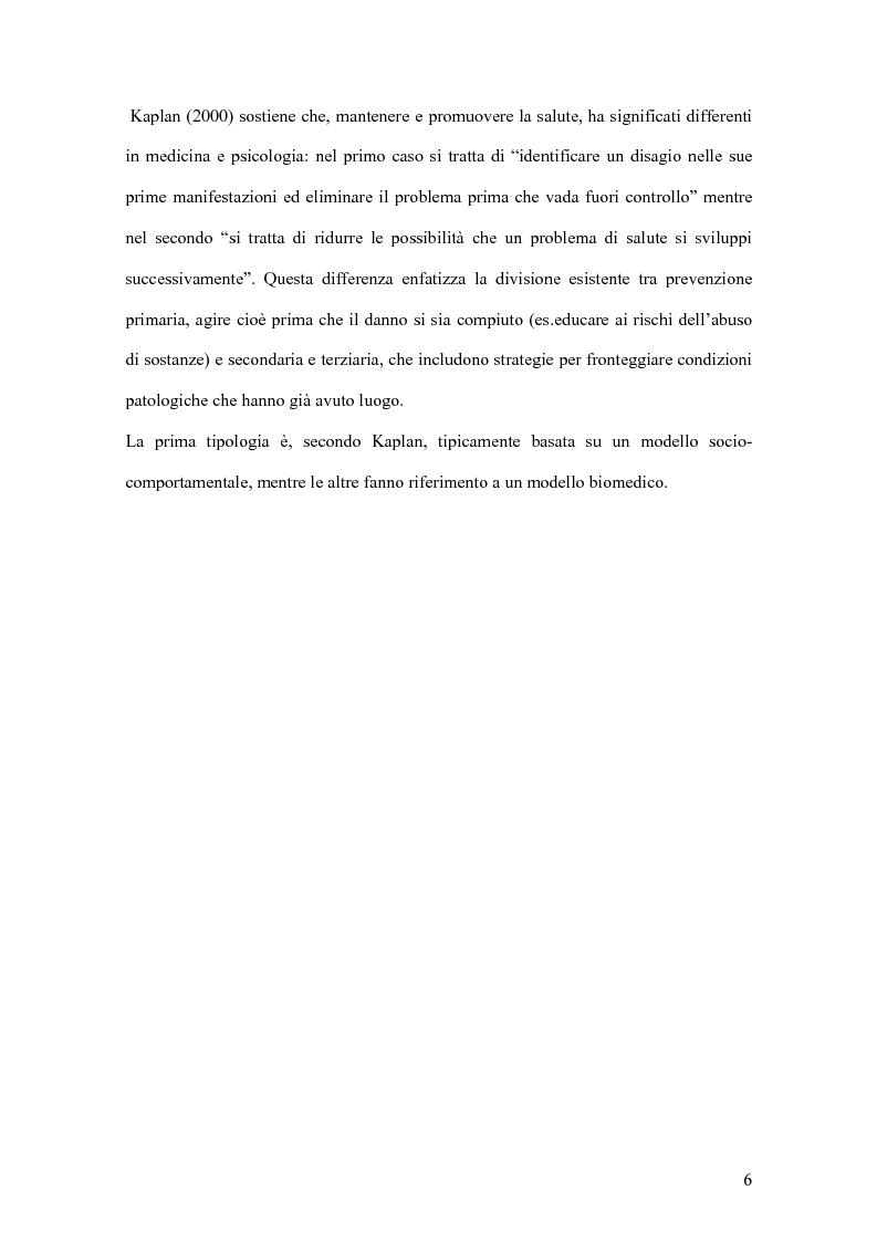 Anteprima della tesi: I fattori di resilienza allo stress: una ricognizione bibliografica, Pagina 5