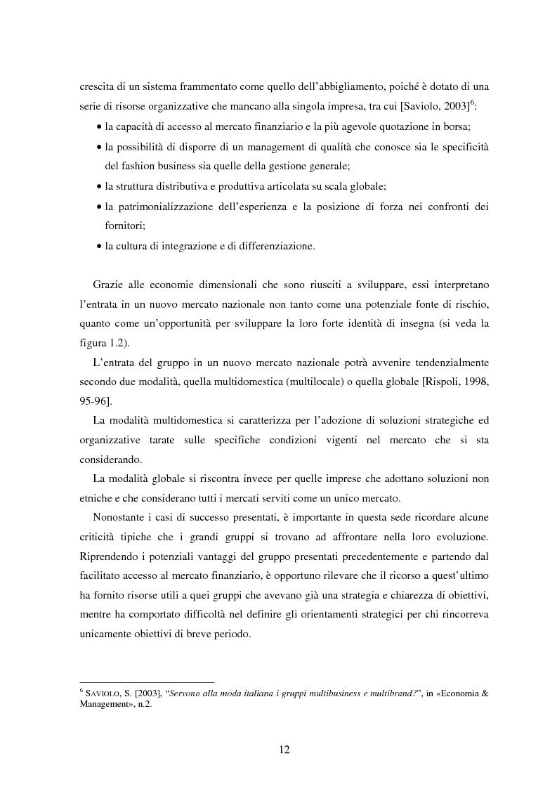 Anteprima della tesi: Marketing esperienziale e punto vendita nell'abbigliamento: aspetti concettuali ed applicativi, Pagina 10