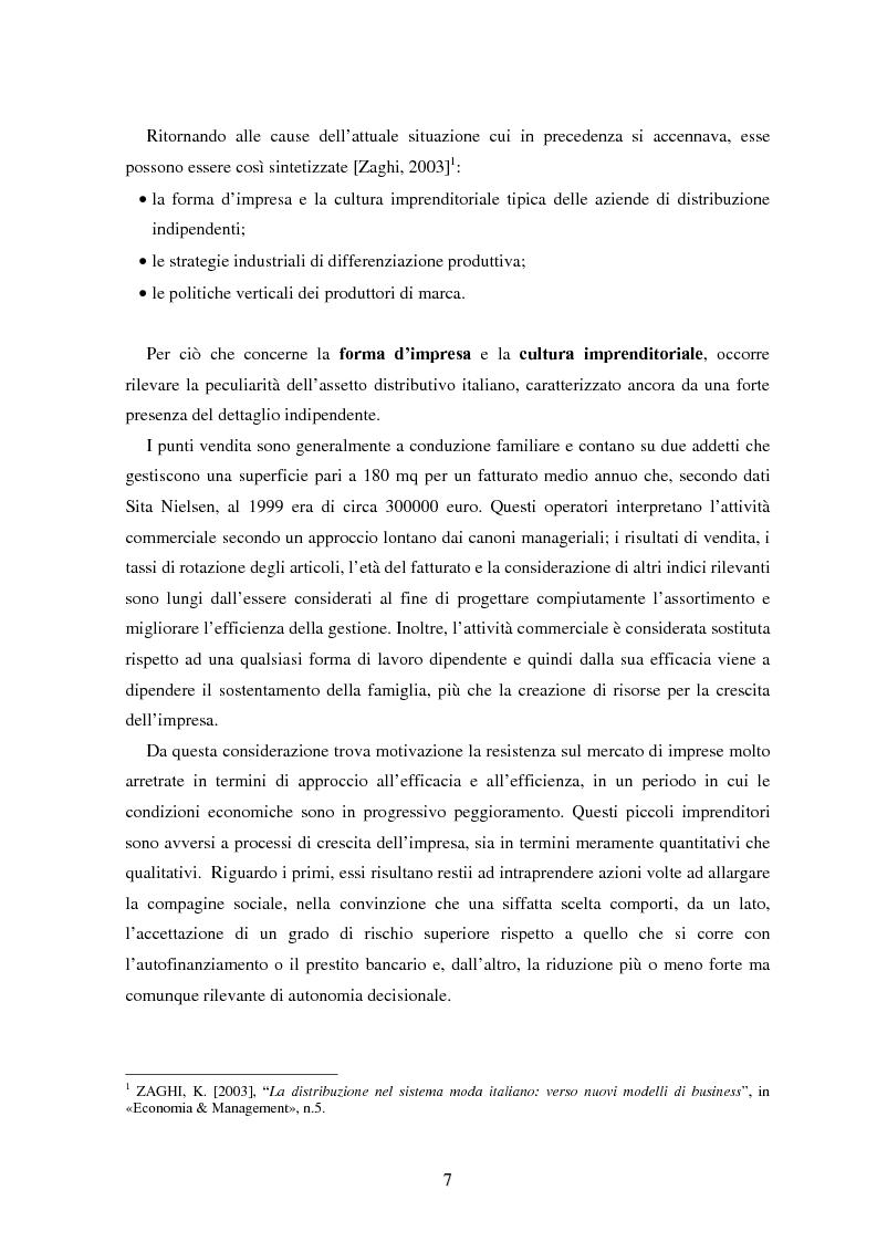 Anteprima della tesi: Marketing esperienziale e punto vendita nell'abbigliamento: aspetti concettuali ed applicativi, Pagina 5