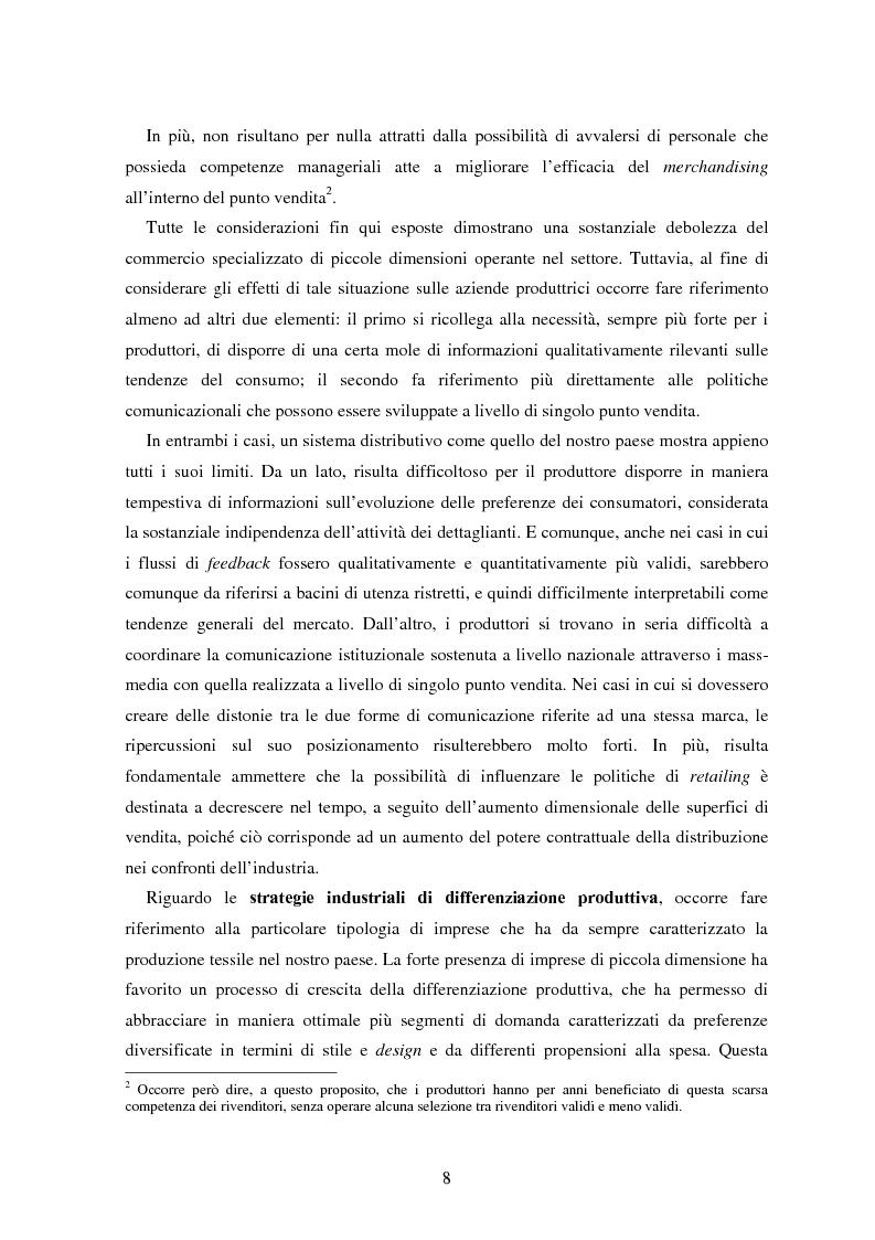 Anteprima della tesi: Marketing esperienziale e punto vendita nell'abbigliamento: aspetti concettuali ed applicativi, Pagina 6