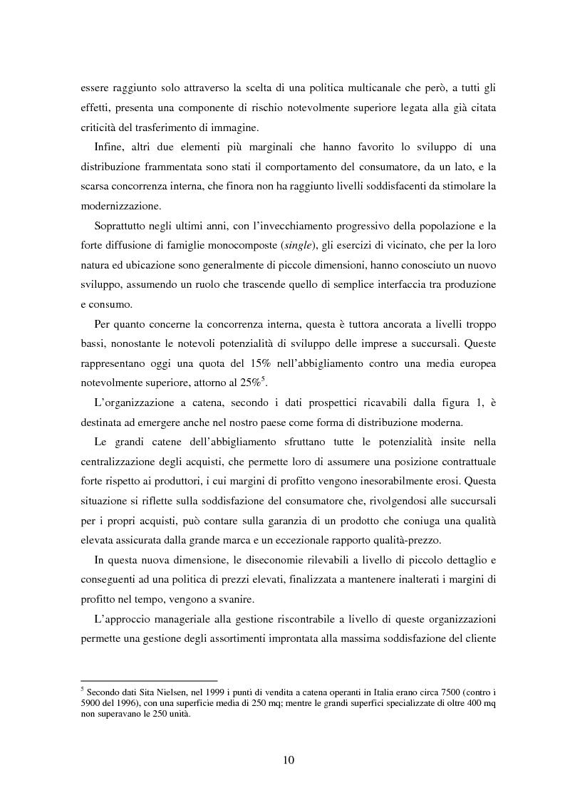 Anteprima della tesi: Marketing esperienziale e punto vendita nell'abbigliamento: aspetti concettuali ed applicativi, Pagina 8