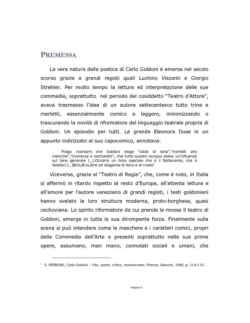 Anteprima della tesi: La Trilogia della Villeggiatura da Strehler a Castri, Pagina 5