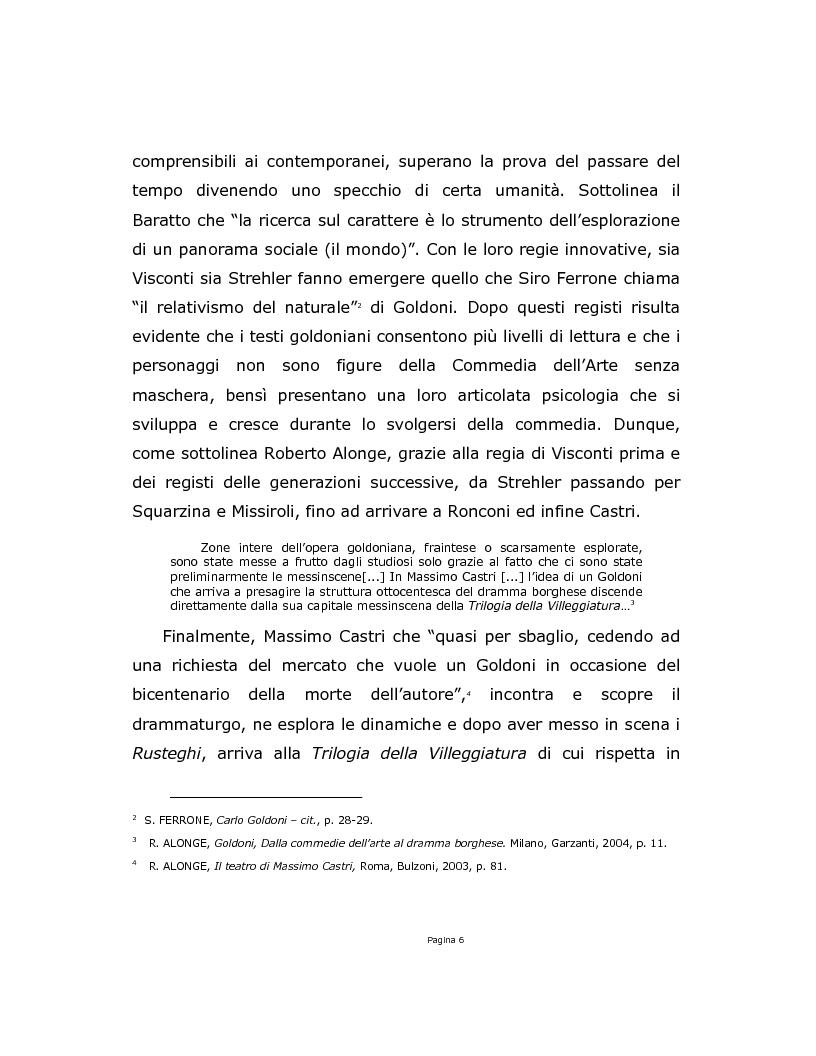 Anteprima della tesi: La Trilogia della Villeggiatura da Strehler a Castri, Pagina 6