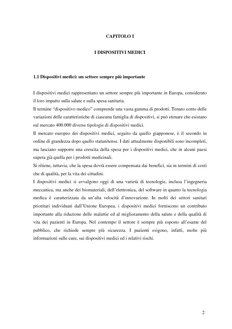 Anteprima della tesi: Dispositivi medici: certificazione, sicurezza e rintracciabilità, Pagina 2